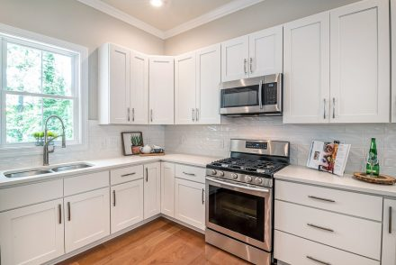 Backplates on white cabinets