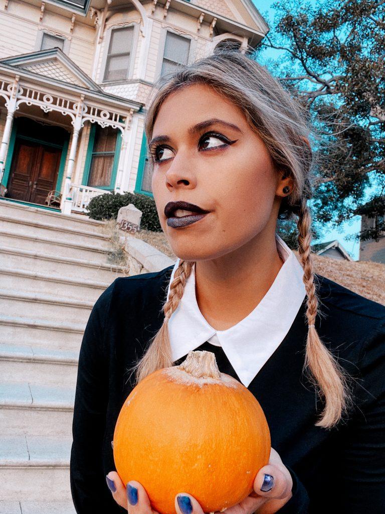 Wednesday Addams makeup look