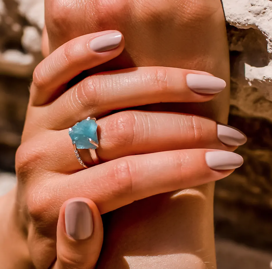 affordable raw crystal ring