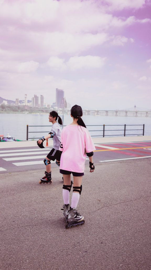 rollerblading and roller skating for cardio exercise.