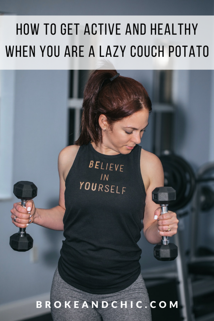 "woman holding weights and wearing a shirt that says ""Believe in Yourself"""