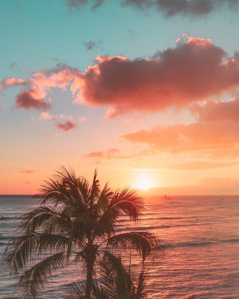 Maui, Hawaii sunset.
