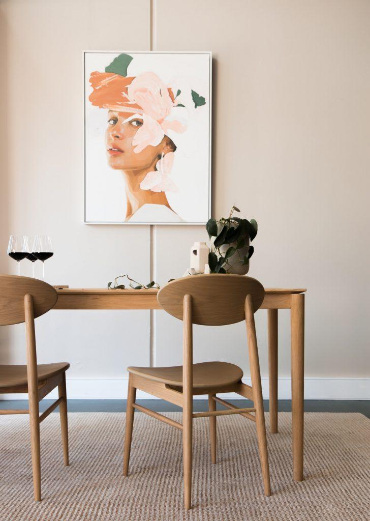 Scandinavian style dining room set.
